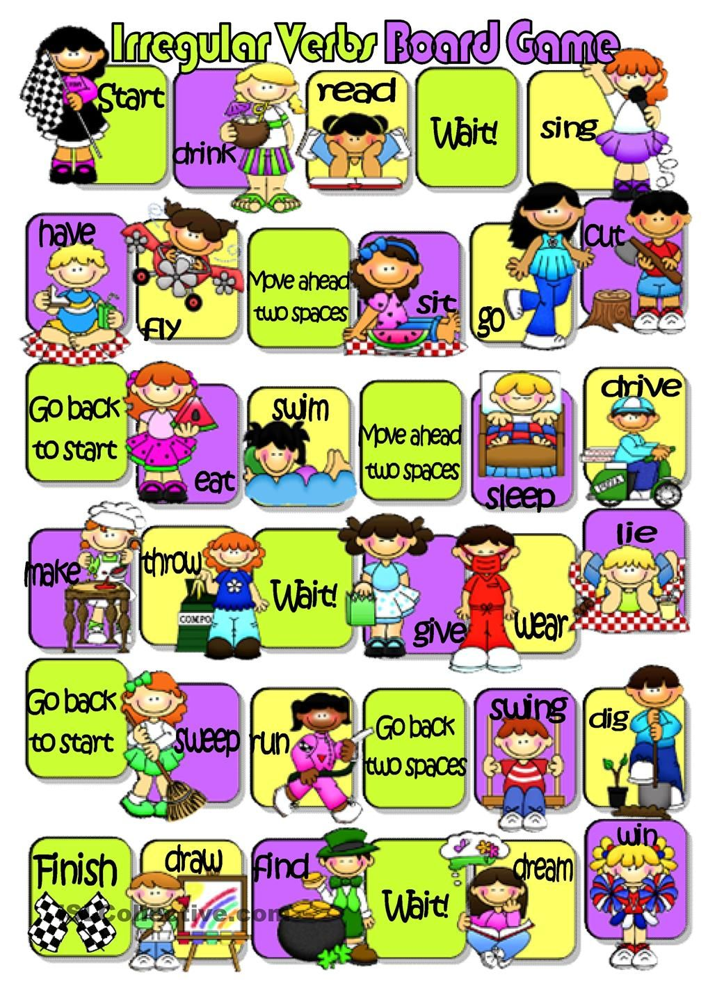 Irregular Verbs Board Game  verbs  Pinterest  Student-centered  grade worksheets, math worksheets, alphabet worksheets, free worksheets, and education French Regular Verbs Worksheet 1440 x 1018