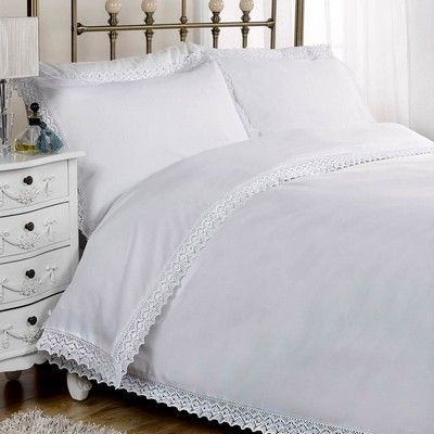 Polycotton white Duvet covers