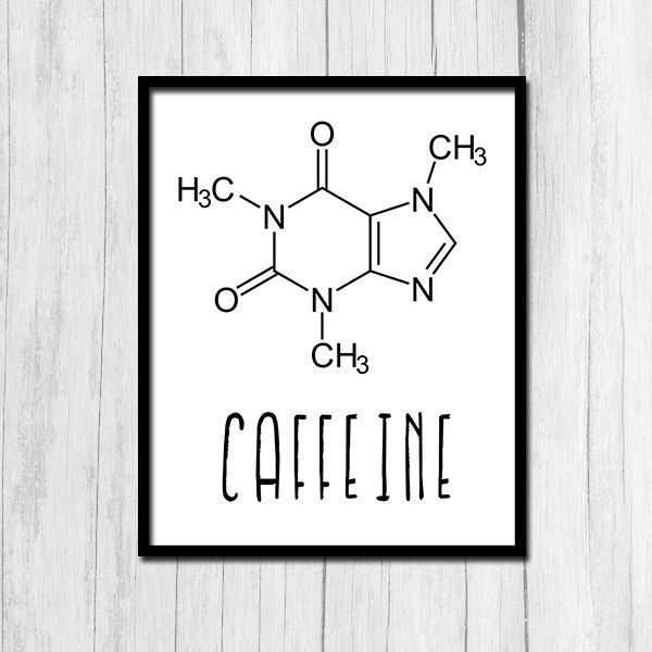Caffeine Print Chemistry Art Instant Download Science Printables