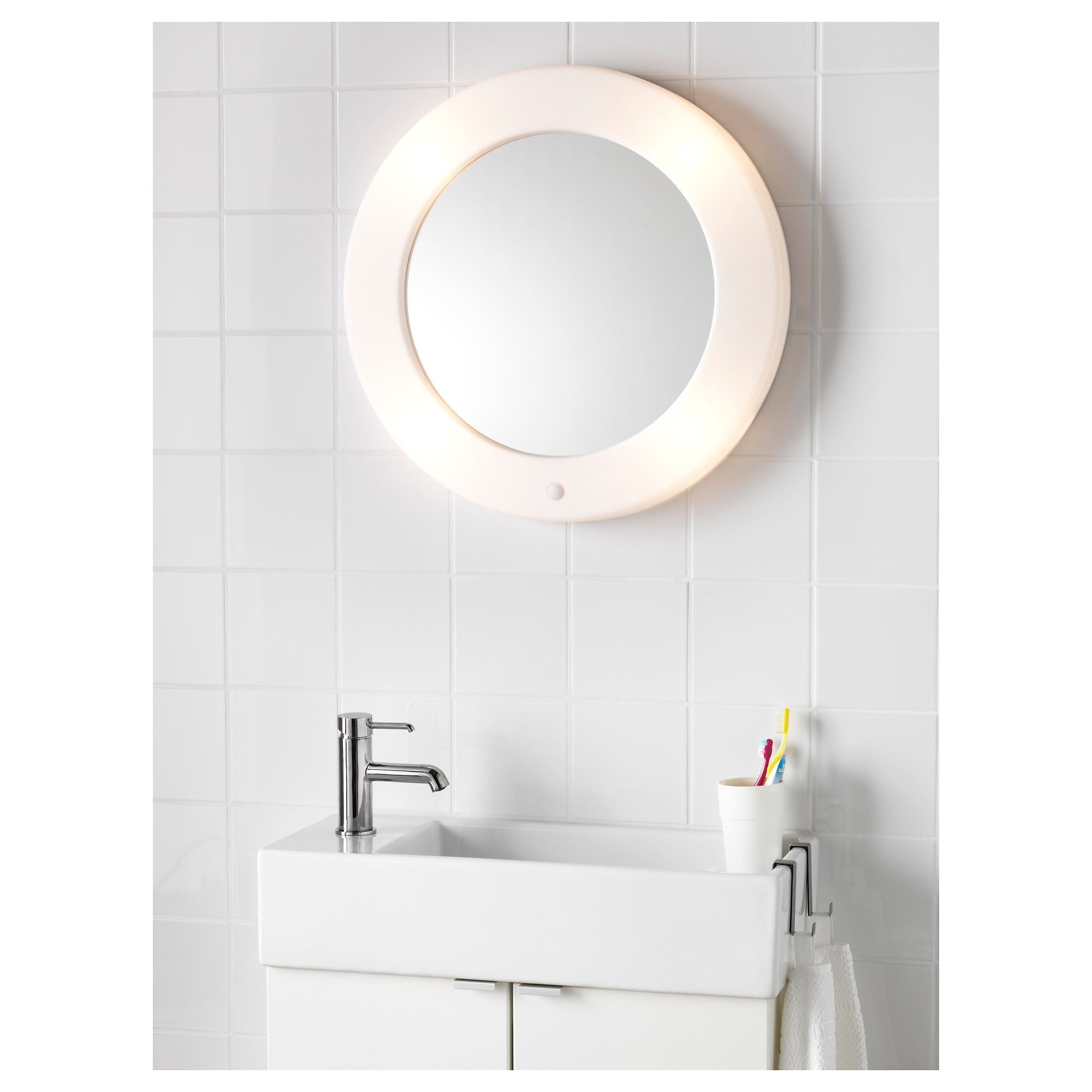 IKEA LILLJORM mirror with integrated lighting A mirror and lamp in ...