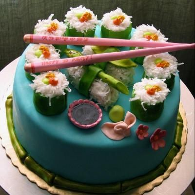 sushi cake from whippedbakeshop.com