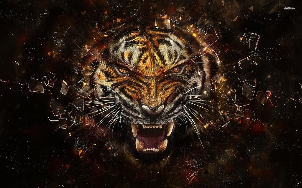 Unreal On Tiger Wallpaper Abstract Animals Animal Wallpaper