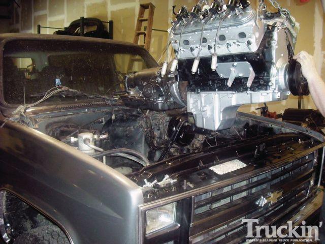 1982 Chevy K5 Blazer 6 0l Engine Swap Truckin Magazine Engine Swap K5 Blazer Ls Engine