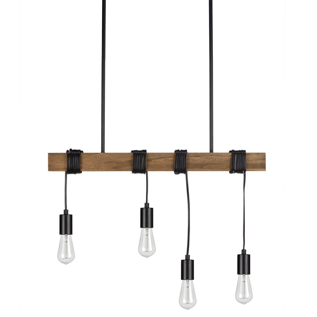 Lampe Suspendue A 4 Ampoules Ceiling Lamp Ceiling Lamp Black Lamp