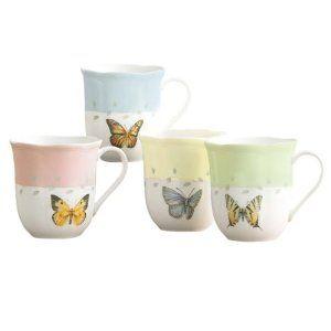 Lenox Butterfly Meadow Mugs, Set of 4 $28