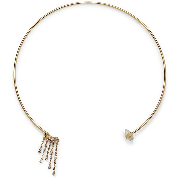 Rebecca Minkoff Rock Fringe Collar Necklace ($68) ❤ liked on Polyvore featuring jewelry, necklaces, rebecca minkoff jewelry, rock necklace, rebecca minkoff, fringe jewelry and collar jewelry