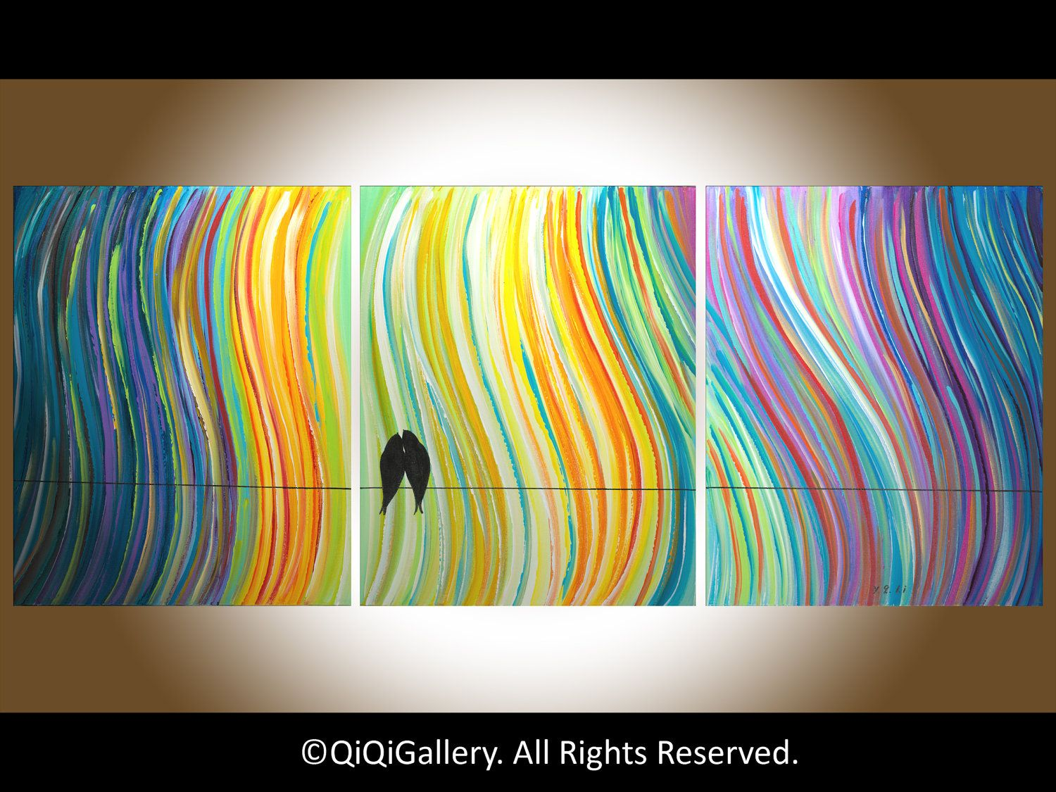 Abstract painting original large art on canvas heavy