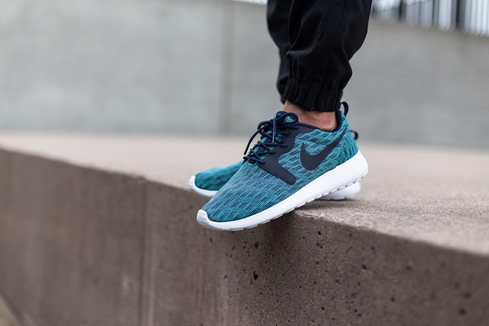 Nike Roshe One Retro Blau Gelb Damen Sneakers Online Shop
