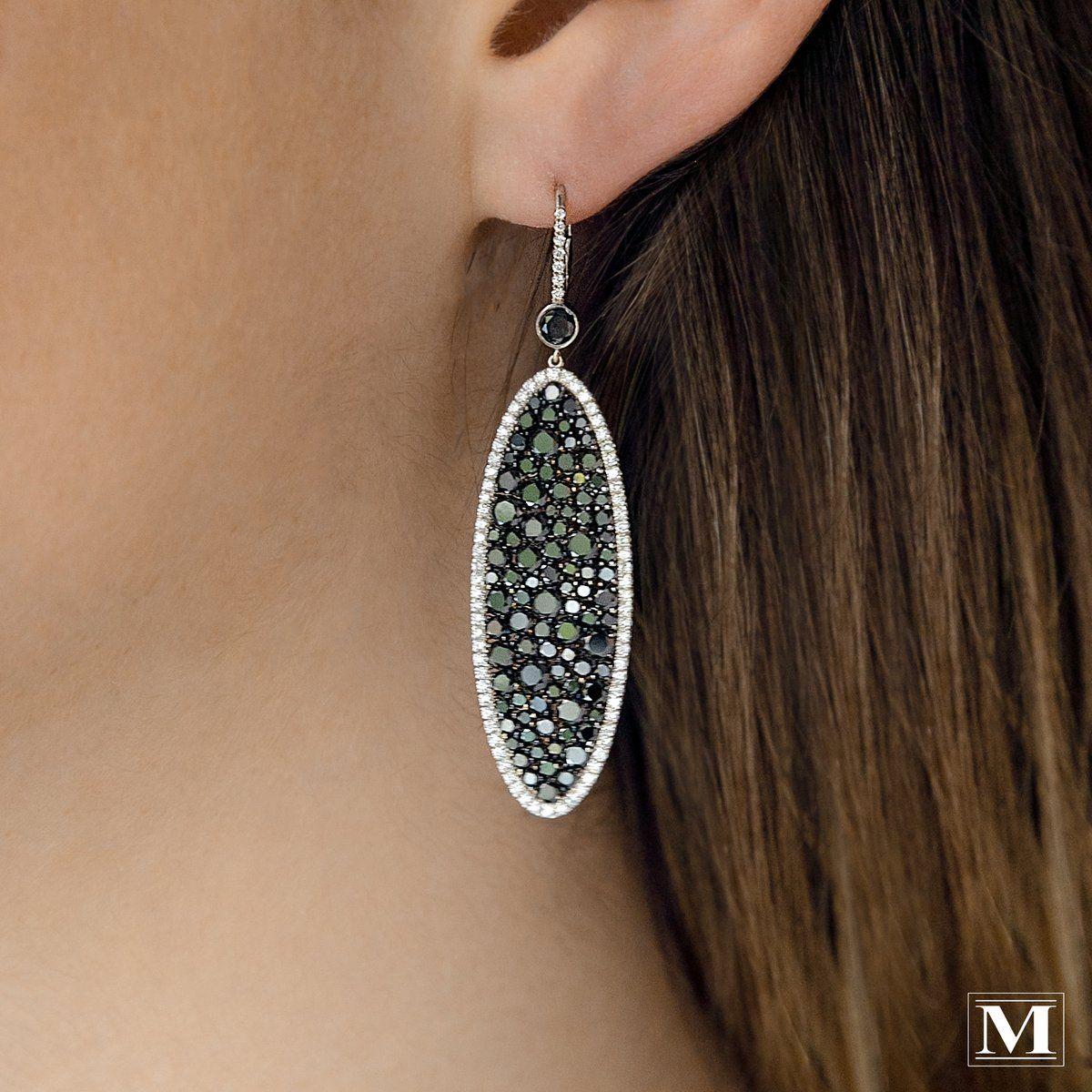 Martin Katz Black Diamond Earrings From The Champagne