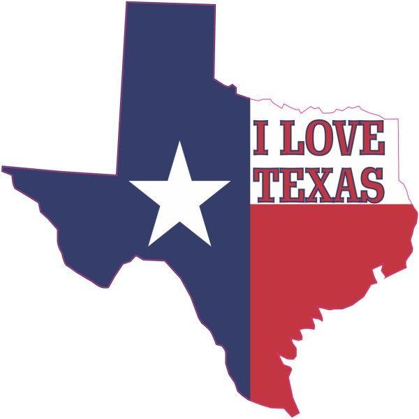 4 x 4 i love texas texan flag car bumper sticker truck window vinyl decal stickertalk