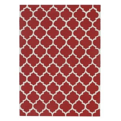 Simple Morocco Hand-Tufted Rug - Red ~ Living room will be in red, black, and creme