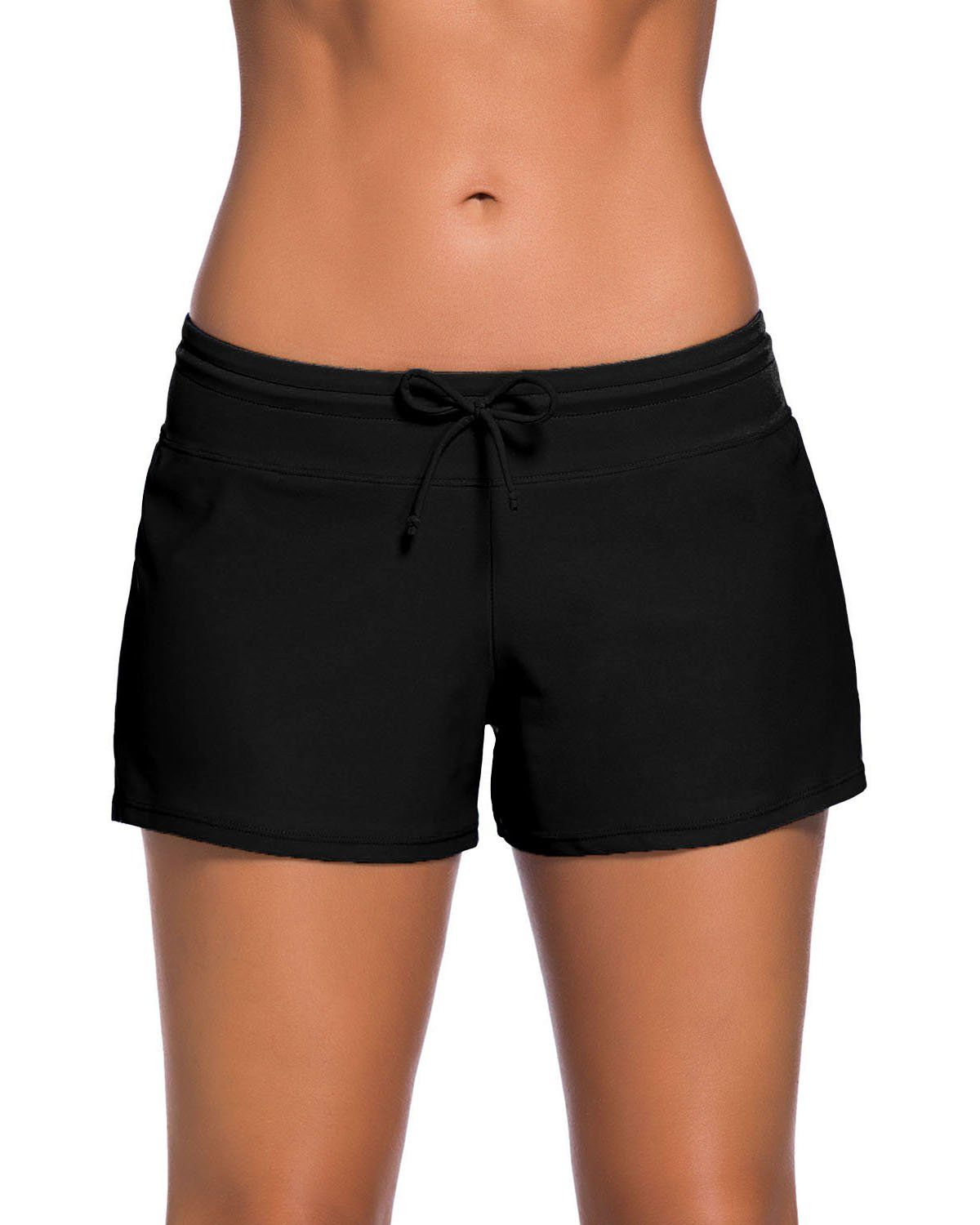 86576cfad5 ChinFun Womens Adjustable Waistband Swimsuit Swim Board Shorts SXXXL Black  Size L >>> You can get more details by clicking on the image.
