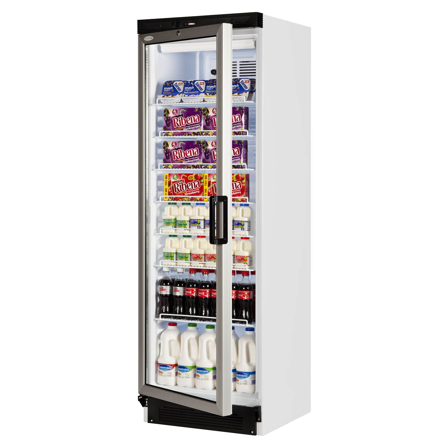 Tefcold Fs1380 Glass Door Merchandiser Left Hand Hinged Glass Door Fridge Single Doors Single Door Fridge