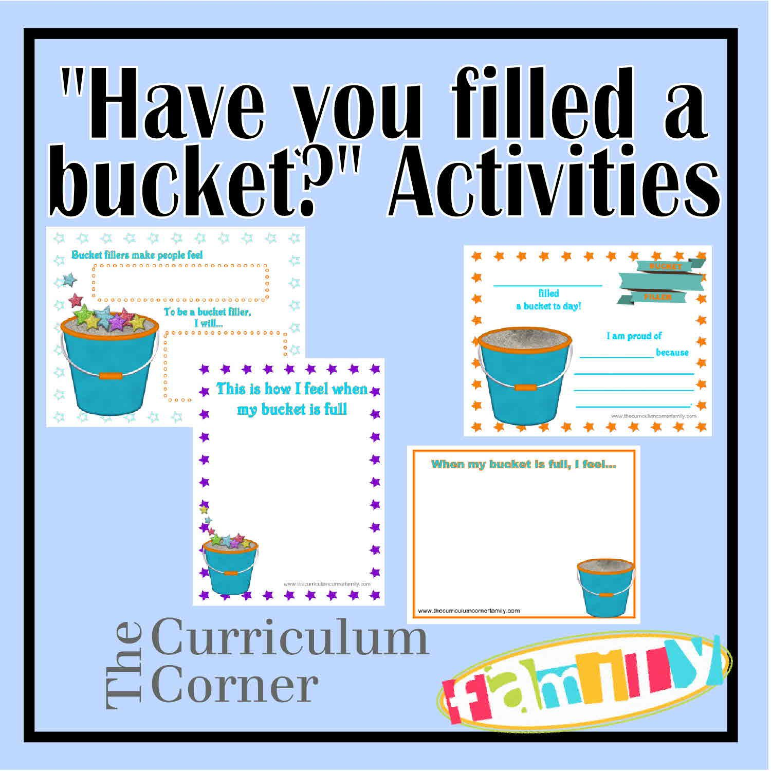 Have You Filled A Bucket Activities For Preschool And