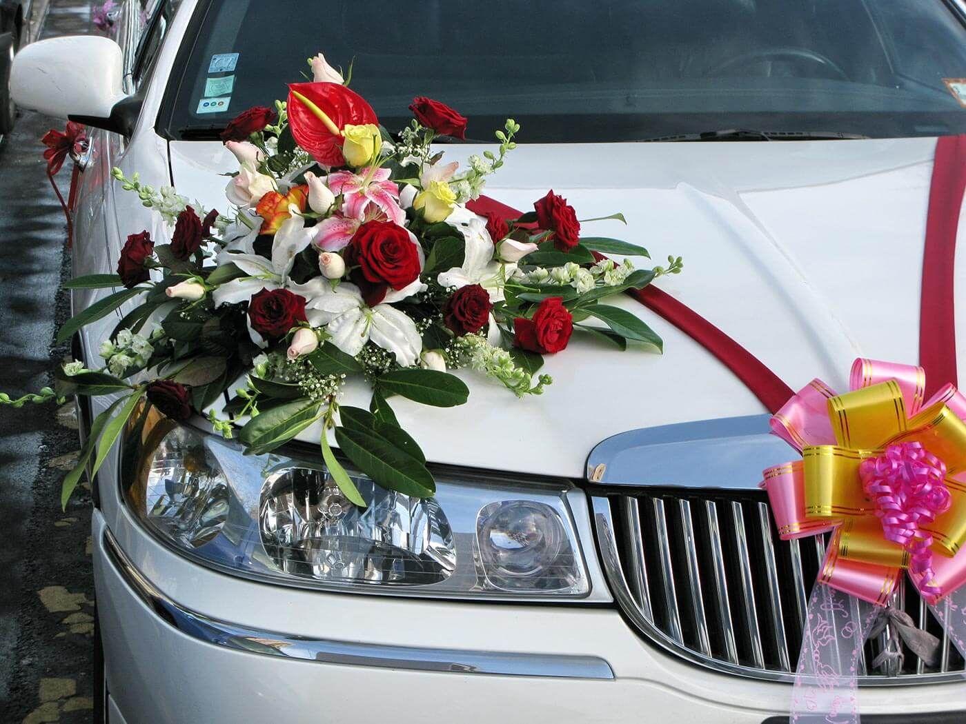 Autoschmuck Autodeko Hochzeit | Autodeko hochzeit