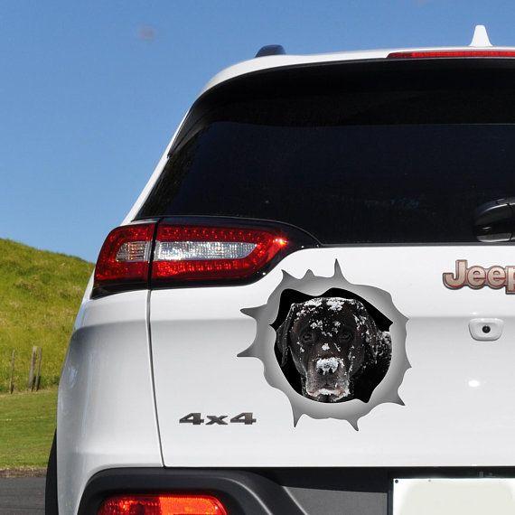 Dog decal labrador car sticker car bumper sticker car window decal car