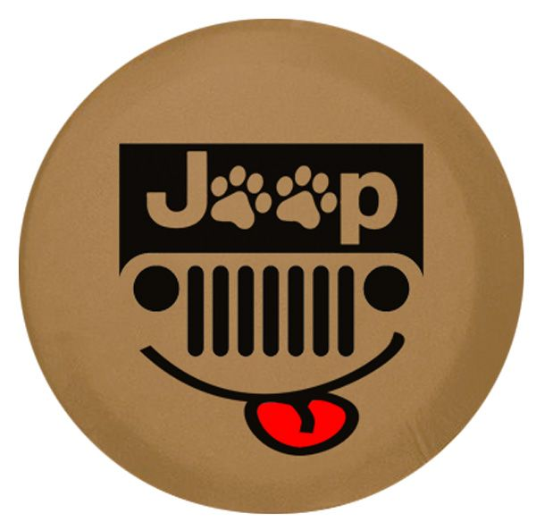 Jeep Paws Grill Vinyl Spare Tire Cover Spice Jeep