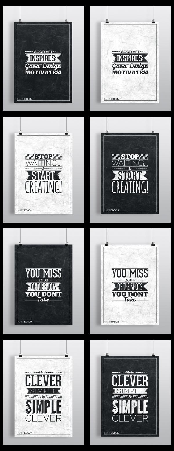 Typography Poster Set No.1 by Matt Edson by Matt Edson, via Behance ...