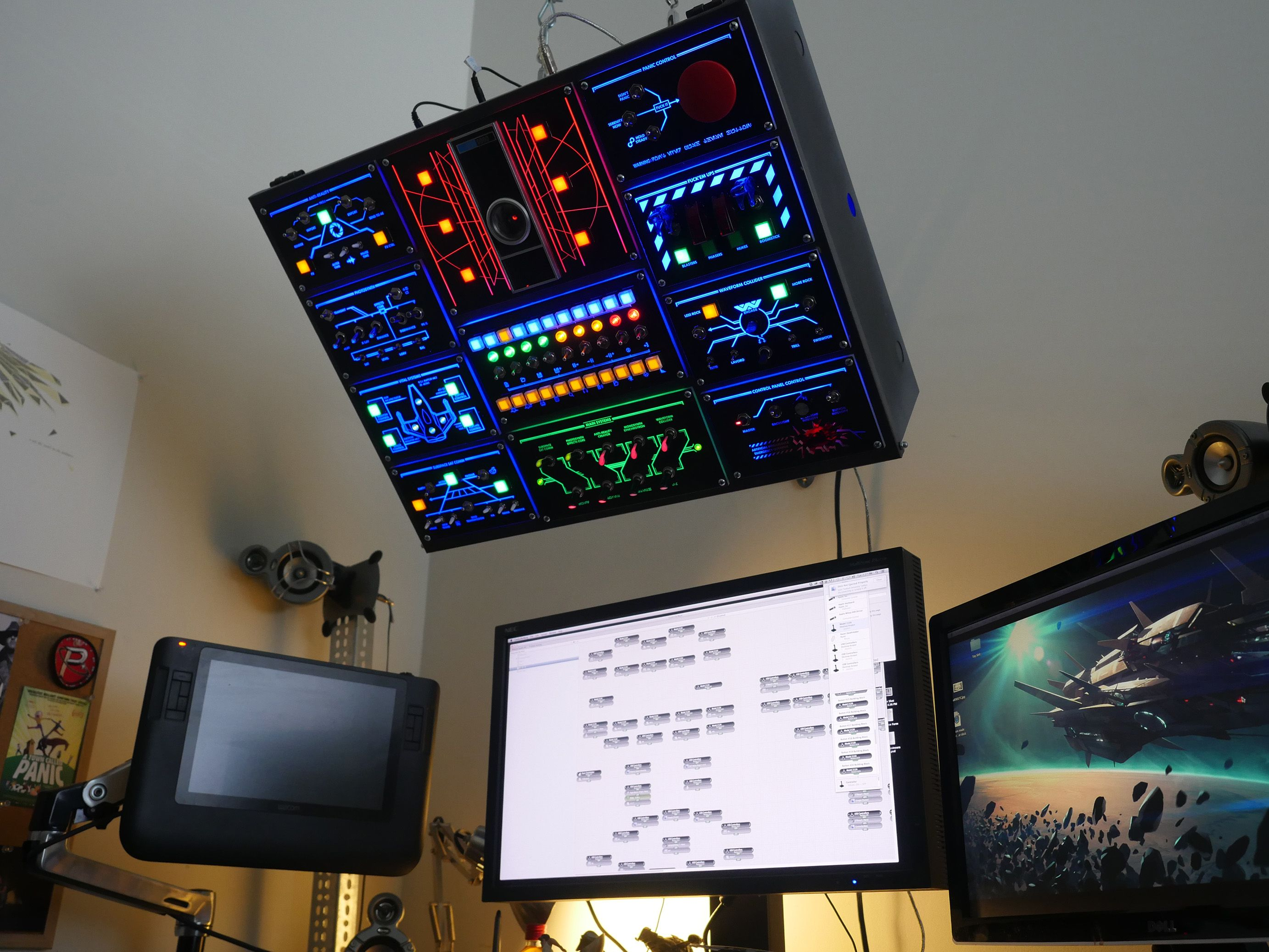 Diy Overhead Control Panel Computer Projectselectronics