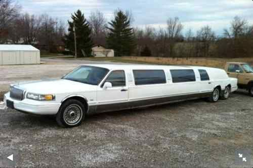 1997 Lincoln Continental Town Car Tandem Axle Stretch Limousine
