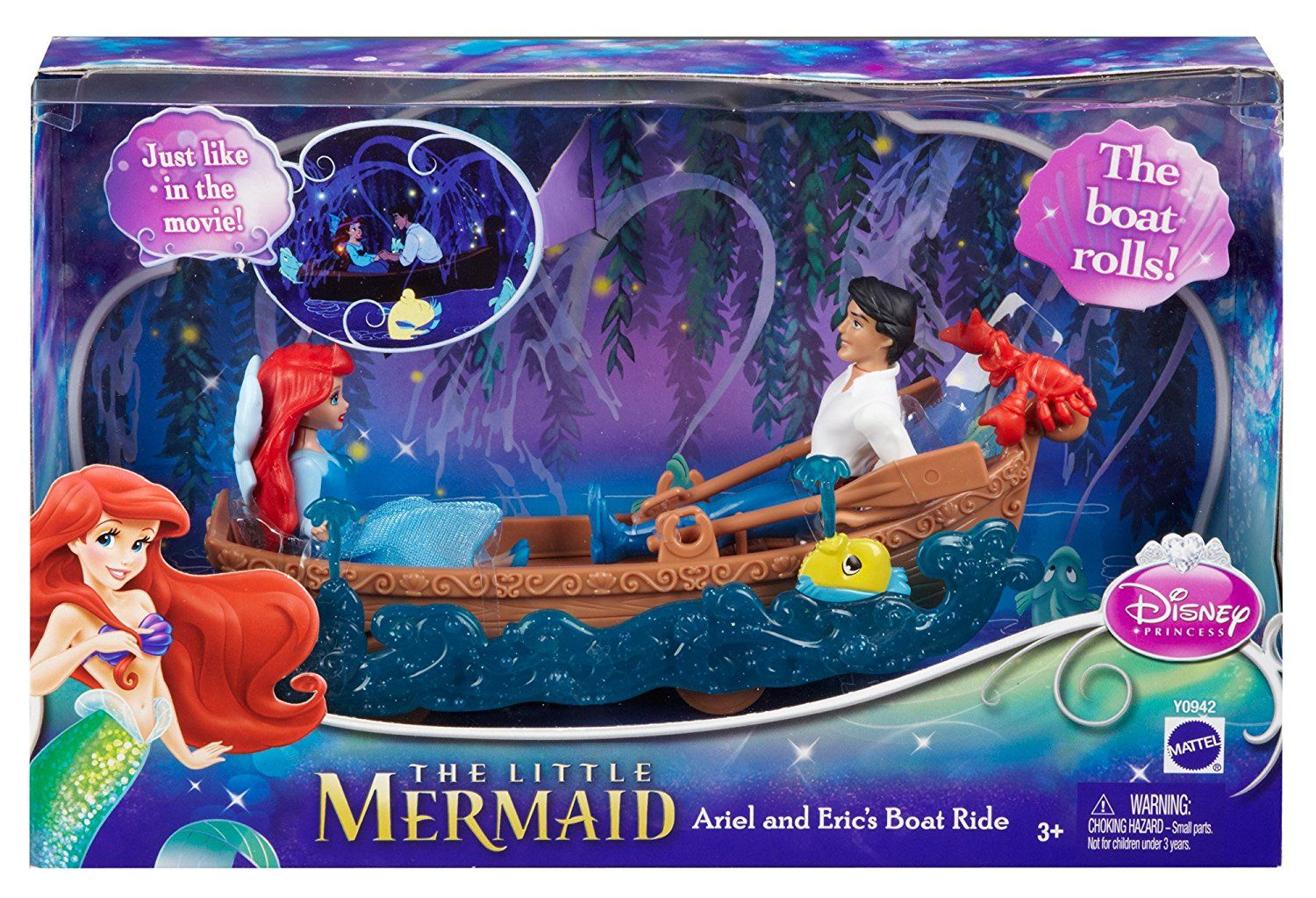 Amazon.com: Disney Princess Favorite Moments The Little Mermaid Ariel and Eric's Boat Ride Playset: Toys & Games