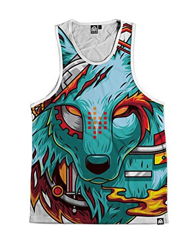 dfcca3047fb13 INTO THE AM Digital Wolf Premium All Over Print Tank Top ... http