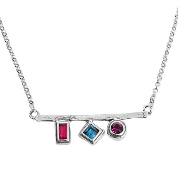 shopping by sisters necklace amazing things silver shop remembered brass savings crystal birthstone dipped platinum
