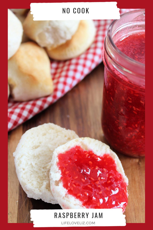 No Cook Raspberry Freezer Jam Life Love Liz Recipe in