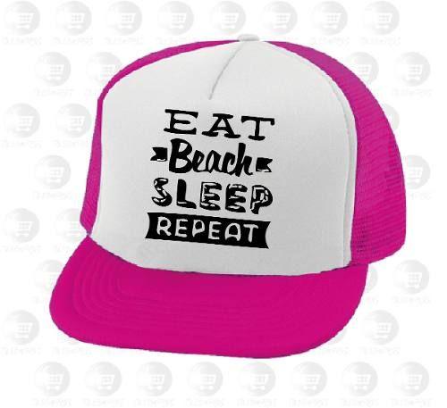 feb54f588c7 Gorras Camioneras Personalizadas Ref: Eat Beach Sleep Repeat - $ 10.000 en  MercadoLibre