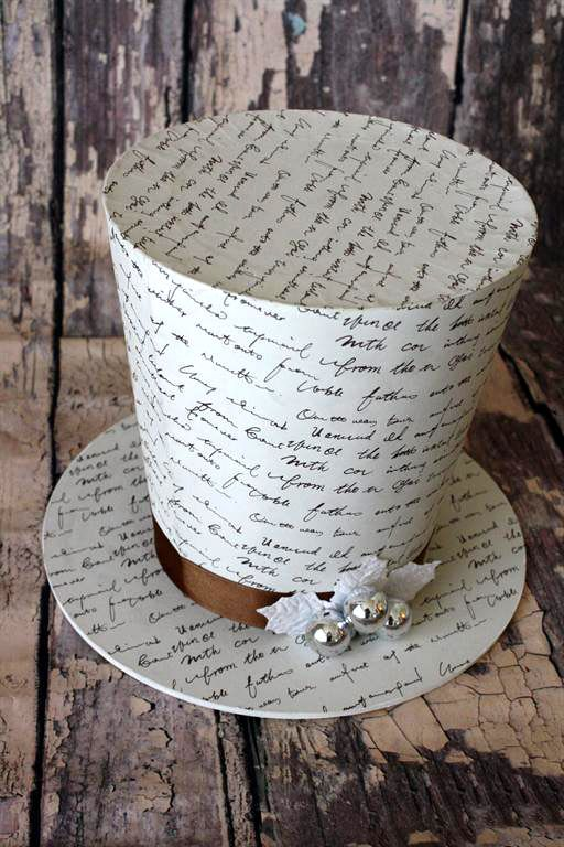Holiday French Script 7x9 Top Hat 21 I Want This For Our Tree