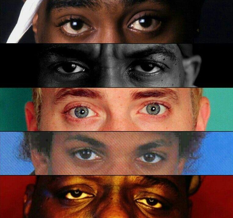 Rap Gods Poster Best Rappers Collage Biggie 2Pac Dre Jay-Z Ice-T Eminem Dogg