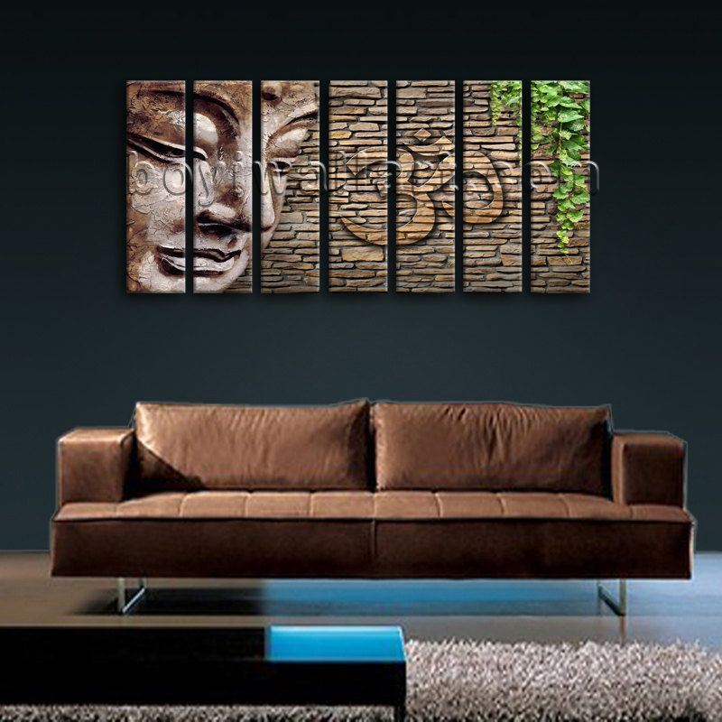 Large Abstract Feng Shui Zen Wall Art Print On Canvas Buddha Picture Home Decor Extra Living Room Domino
