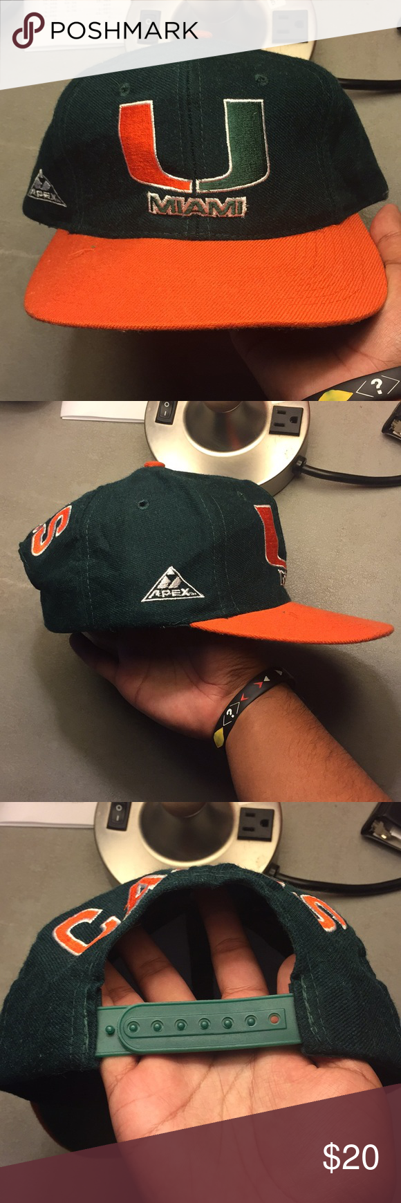 9450d9ef Vintage Miami Hurricanes APEX ONE Hat Good condition. No major flaws. WILL  CONSIDER OFFERS. **check out my closet** NCAA Accessories Hats