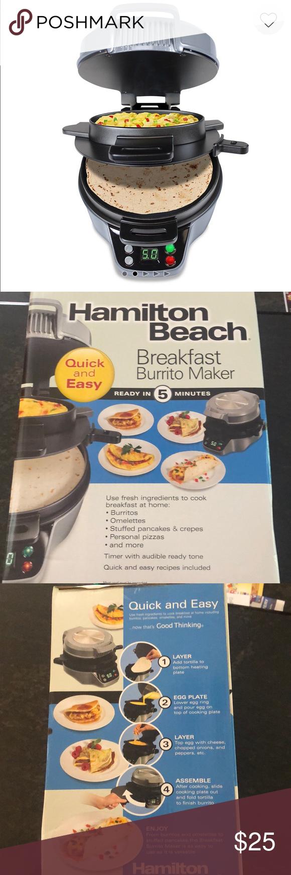 New Hamilton Beach Breakfast Burrito Maker Breakfast Burritos Hamilton Beach Pizza And More