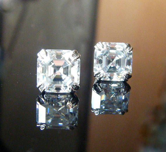 5Ct Near White Round Moissanite Halo Stud Earrings 925 Sterling Silver