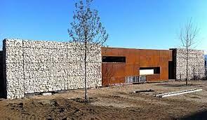 Resultado de imagen de modern architecture with gabion walls