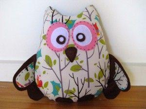 Boot Owl Decorative Cushion
