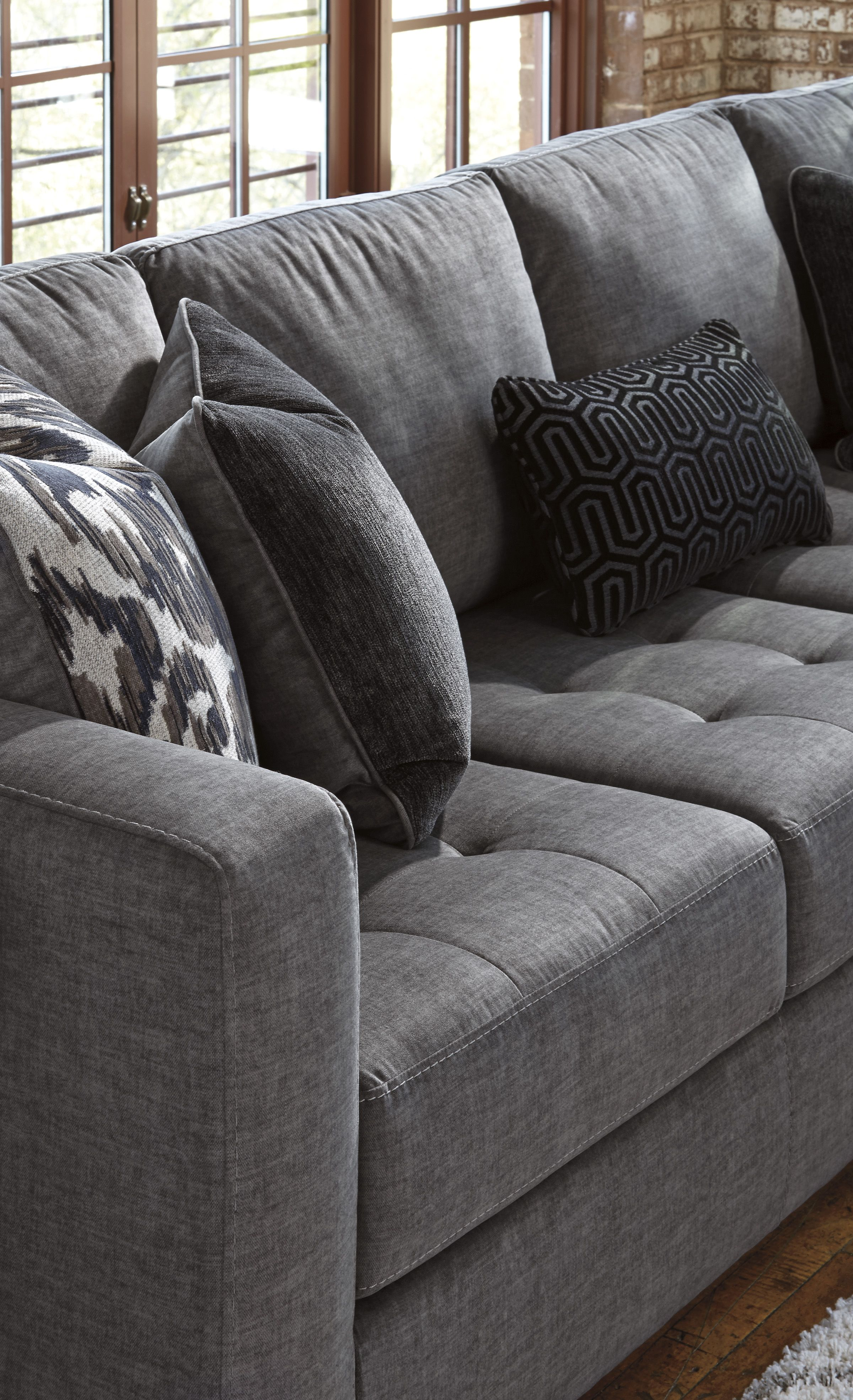 Detail of the ashley homestore owensbe sectional visit your local store today to view it