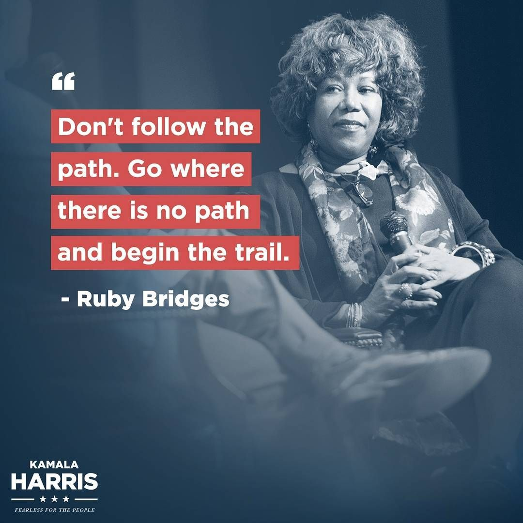 From Senator Kamala Harris Ruby Bridges Was Just Six When