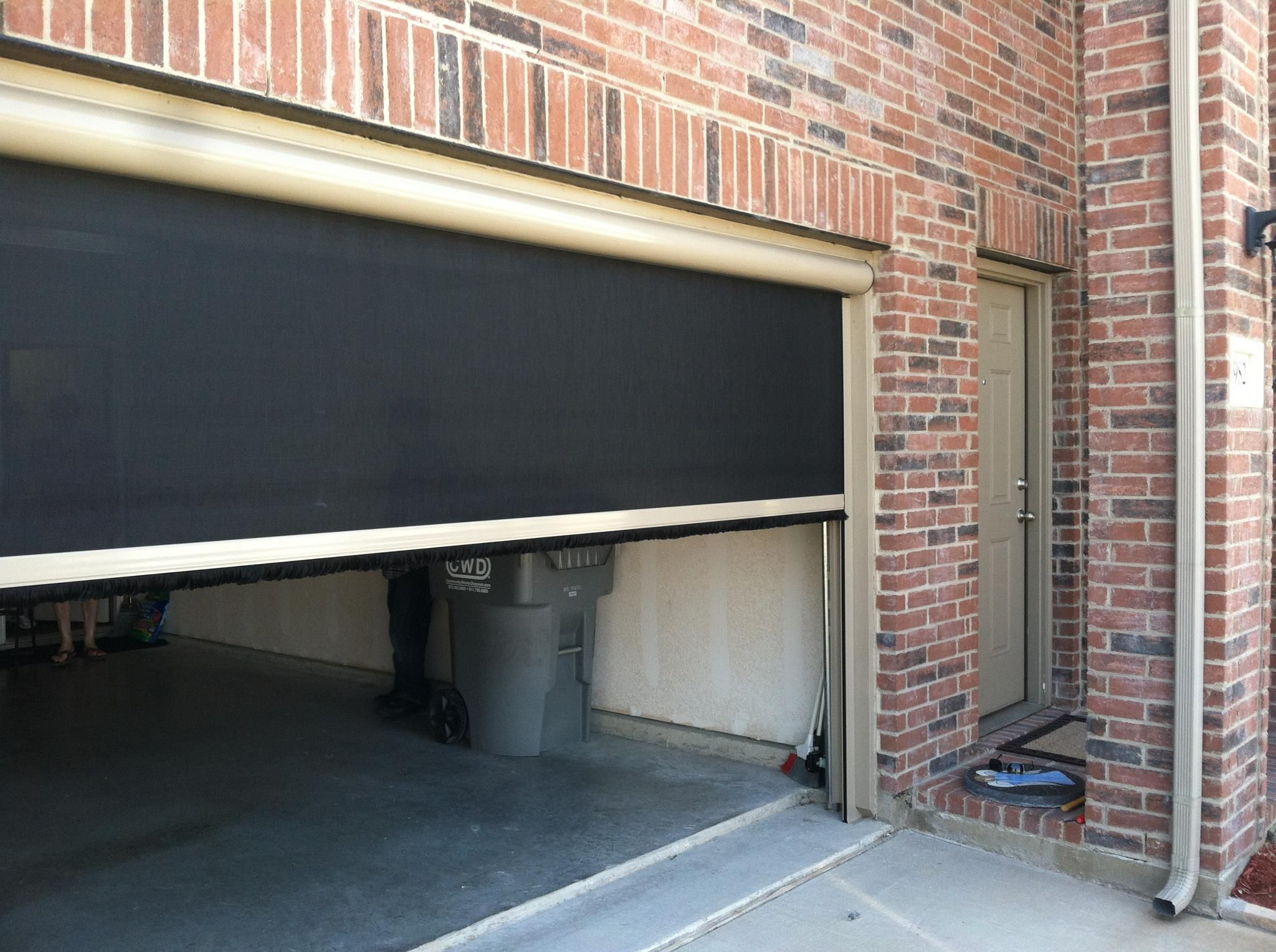 Motorized Retractable Screens To Enclose A Garage Area Use Your Garage To Work On Your Car And Keep It Free Screen Door Garage Screen Door Retractable Screen