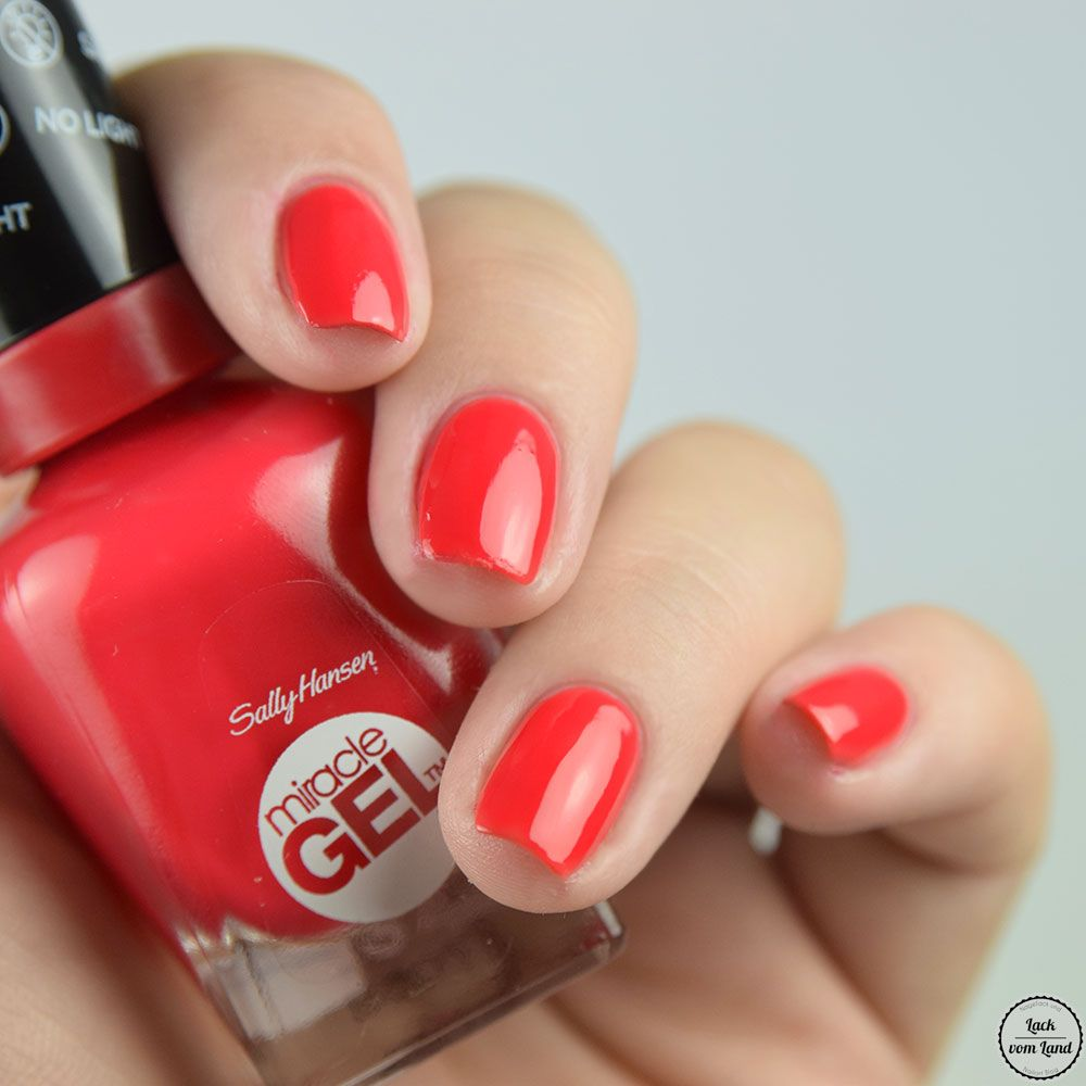 Sally Hansen Scarlet Starlet Tomato Red Creme Nail Polish Lacquer Swatch Manicure