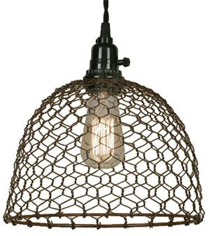 How to make industrial style light fixtures with a chicken wire how to make industrial style light fixtures with a chicken wire lampshade 1 greentooth Images