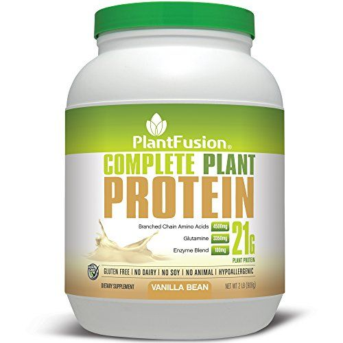 PlantFusion Complete, 100% Plant Based Protein Powder, Vanilla Bean, 30 Servings, 21g Protein, 2lb Tub, No Soy or Rice -- You can find more details by visiting the image link.