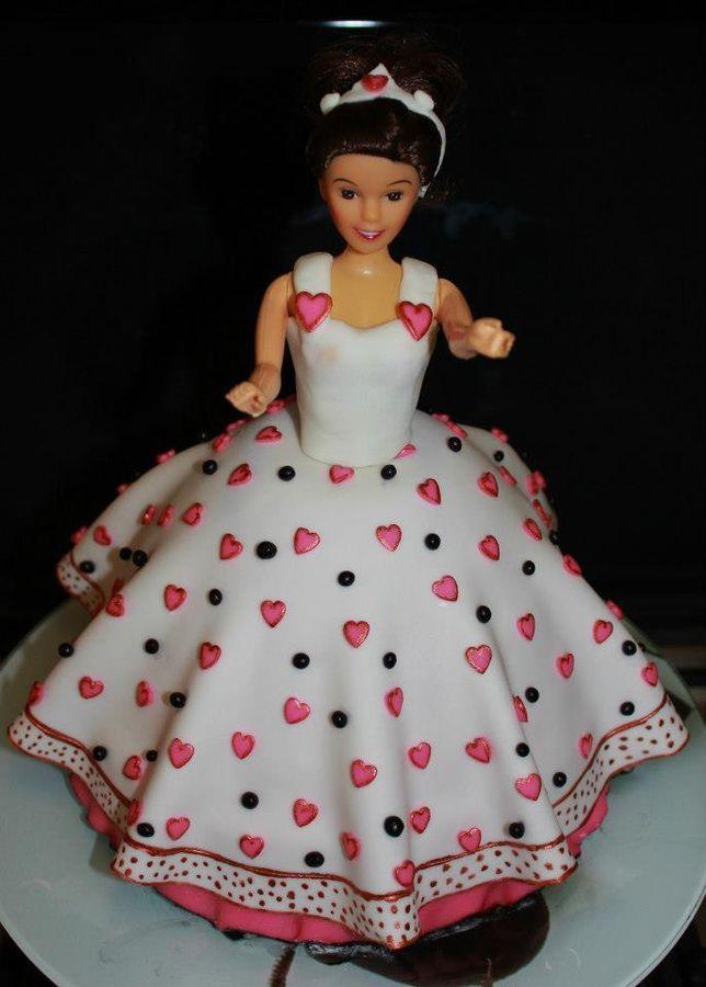 Fondant Gum Paste Princessdoll Birthday Cake Like WOW Cakes - Birthday cake doll princess