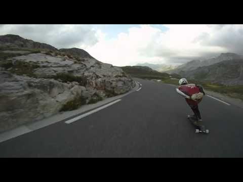 Skateboarding in the Alps