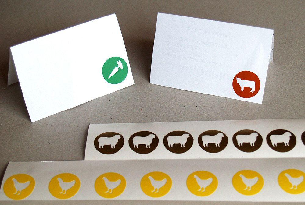 Menu stickers,Meal Choice Sticker,Food choice sticker