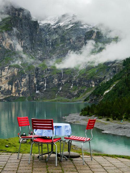 Lunch anyone?...Hotel-Restaurant Öschinensee,  #Switzerland