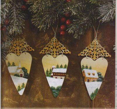 CHRISTMAS ORNAMENTS ON METAL
