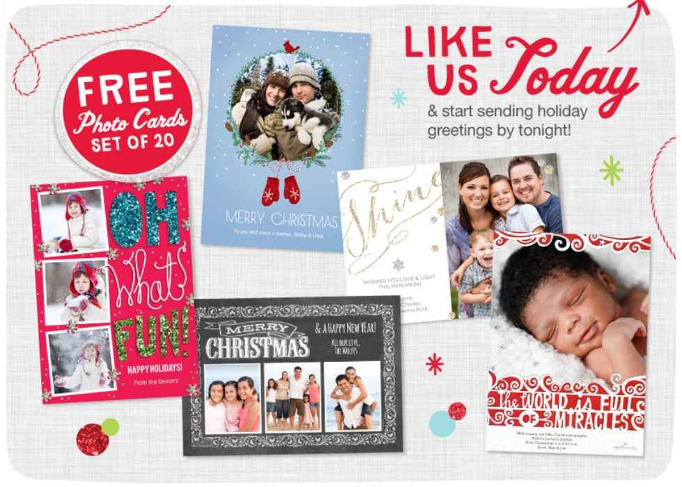 Hurry 20 free photo cards from walgreens photo holiday