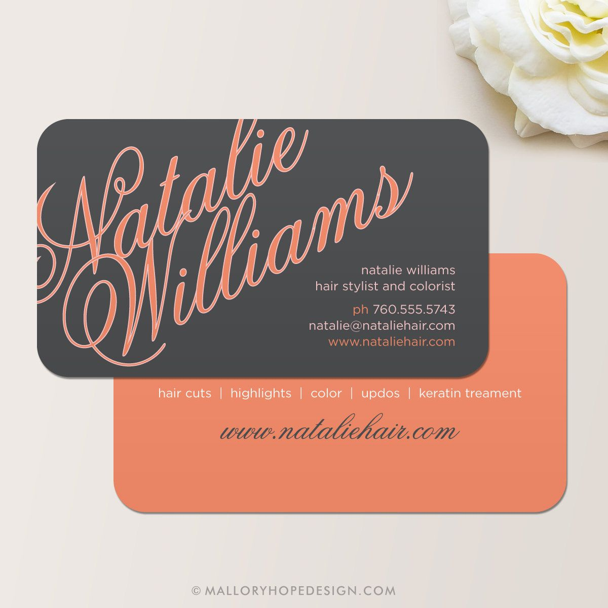 Elegant Name Business Card / Calling Card / Mommy Card / Contact ...